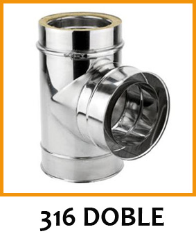 Tubo Inox 316 Doble Pared
