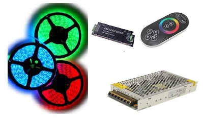 KIT TIRA DE LED 24V RGB 36W IP65
