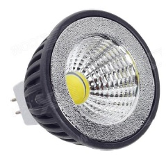 BOMBILLA DICROICA 3W MR16 LED COB DIMABLE CALIDA