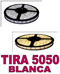 TIRA DE LED BLANCA CALIDA 24V 60Led/m 14,4W/m IP20