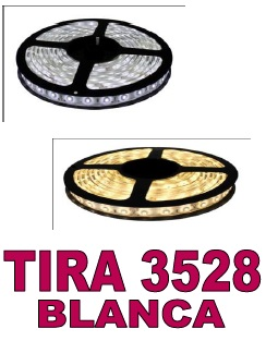TIRA DE LED BLANCO CALIDO 60 LED/m 7,8W/m 12v
